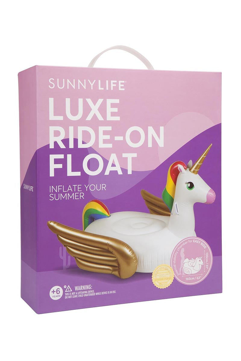 SUNNYLIFE Ride-On Float - Unicorn Pool Accessories | Unicorn| Sunnylife Ride-On Float - Unicorn Box View