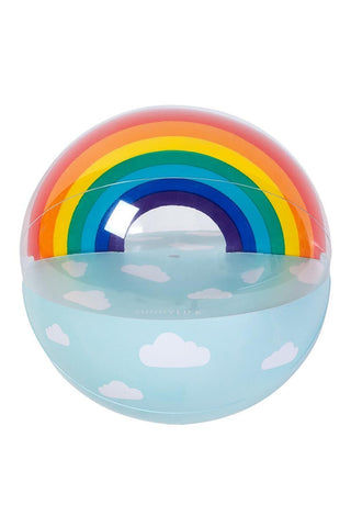 SUNNYLIFE Inflatable  Ball - Rainbow Pool Accessories | Rainbow| Sunnylife Inflatable  Ball - Rainbow Blown Up Front View