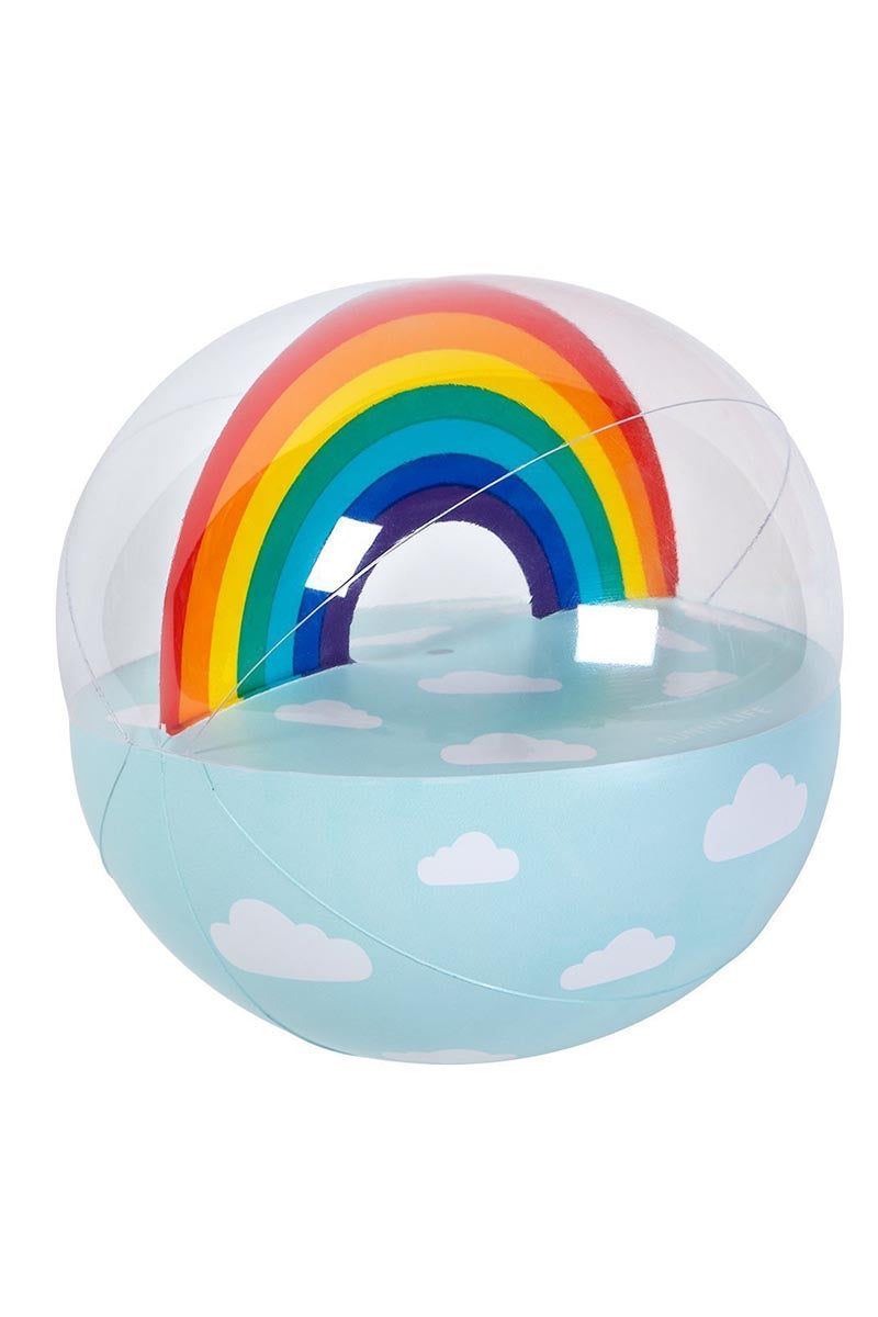 SUNNYLIFE Inflatable  Ball - Rainbow Pool Accessories | Rainbow| Sunnylife Inflatable  Ball - Rainbow Blown Up View