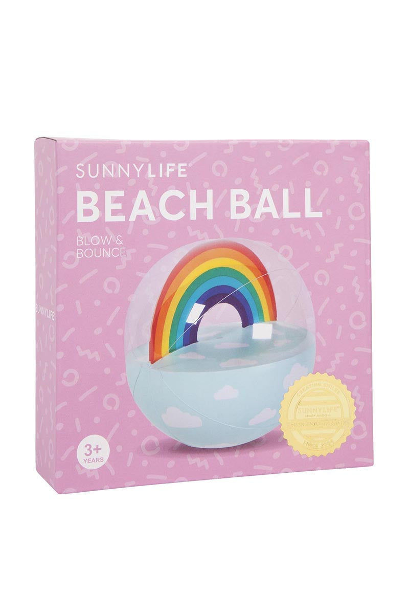 SUNNYLIFE Inflatable  Ball - Rainbow Pool Accessories | Rainbow| Sunnylife Inflatable  Ball - Rainbow Box View