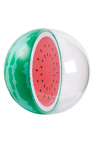 SUNNYLIFE Inflatable Ball - Watermelon Pool Accessories | Watermelon| Sunnylife Inflatable Ball - Watermelon Side View