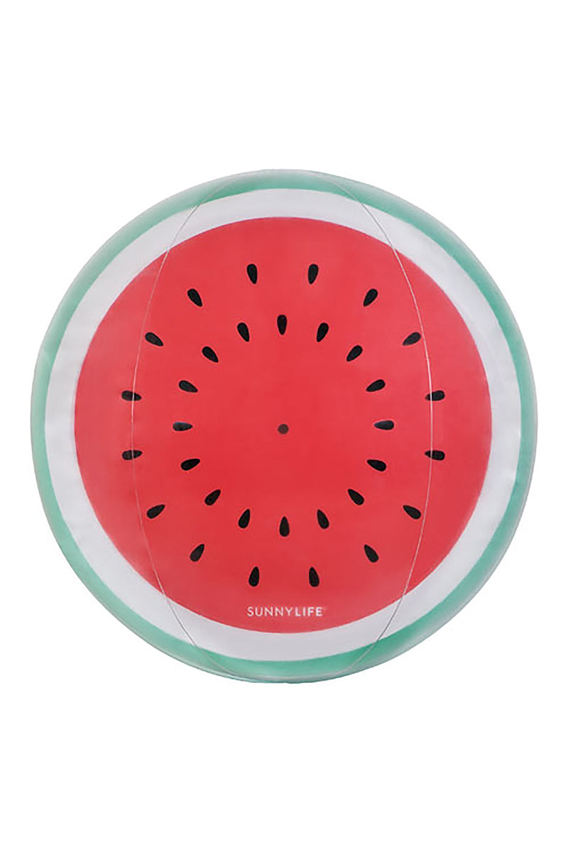 SUNNYLIFE Inflatable Ball - Watermelon Pool Accessories | Watermelon| Sunnylife Inflatable Ball - Watermelon Front View