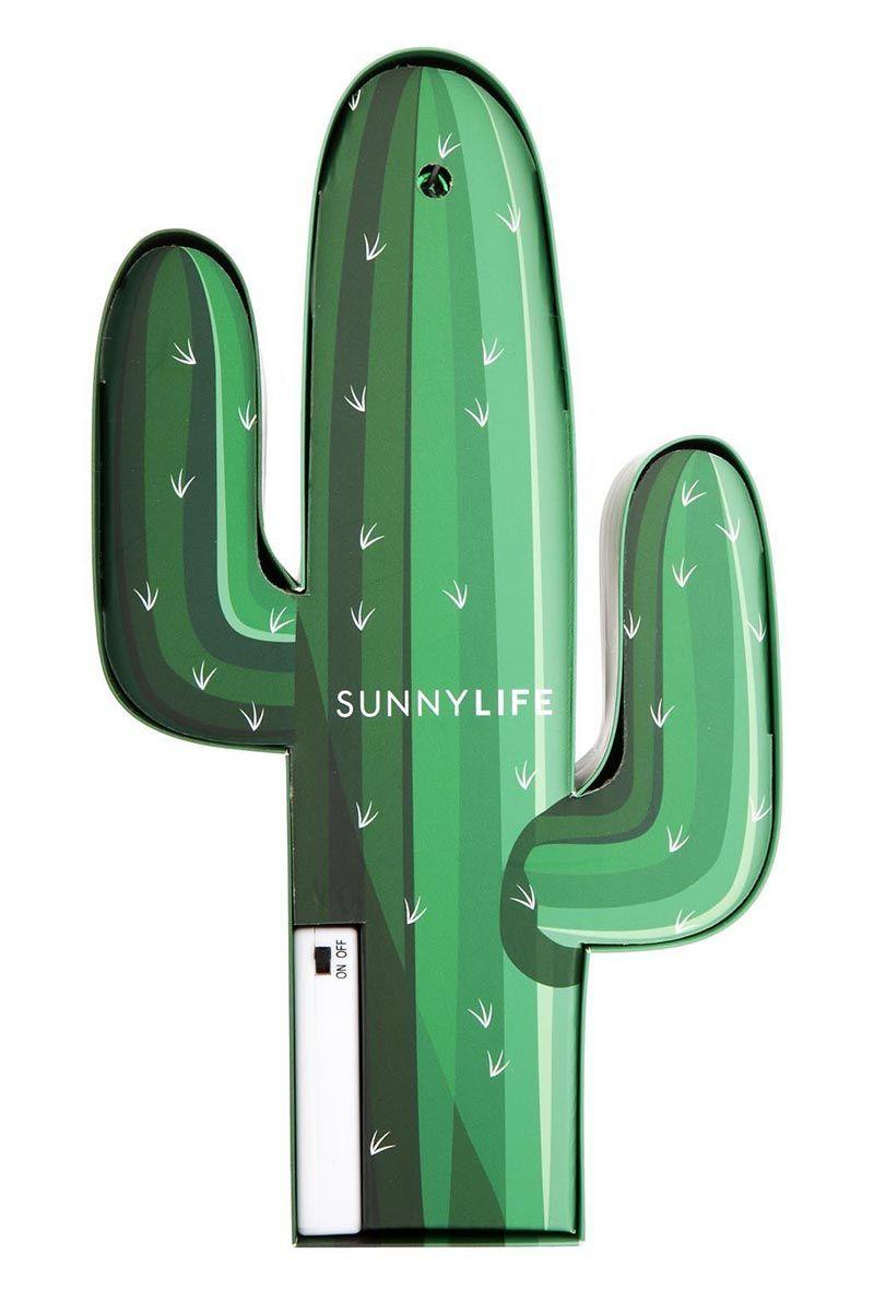 SUNNYLIFE Cactus Marquee Light Accessories | Sunnylife Cactus Marquee Light