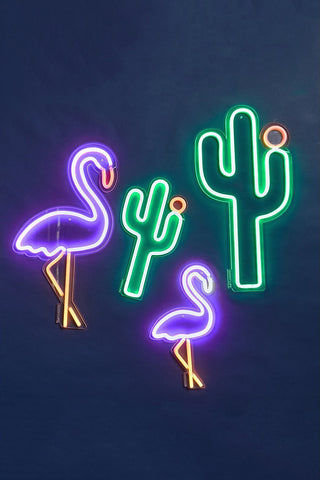 SUNNYLIFE Cactus Neon LED Wall Small Accessories | Sunnylife Cactus Neon LED Wall Small