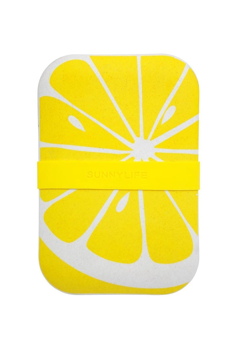 SUNNYLIFE Eco Lunch Box - Lemon Accessories | Lemon| Sunnylife Eco Lunch Box - Lemon Front View
