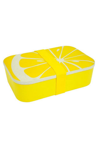SUNNYLIFE Eco Lunch Box - Lemon Accessories | Lemon| Sunnylife Eco Lunch Box - Lemon Side View