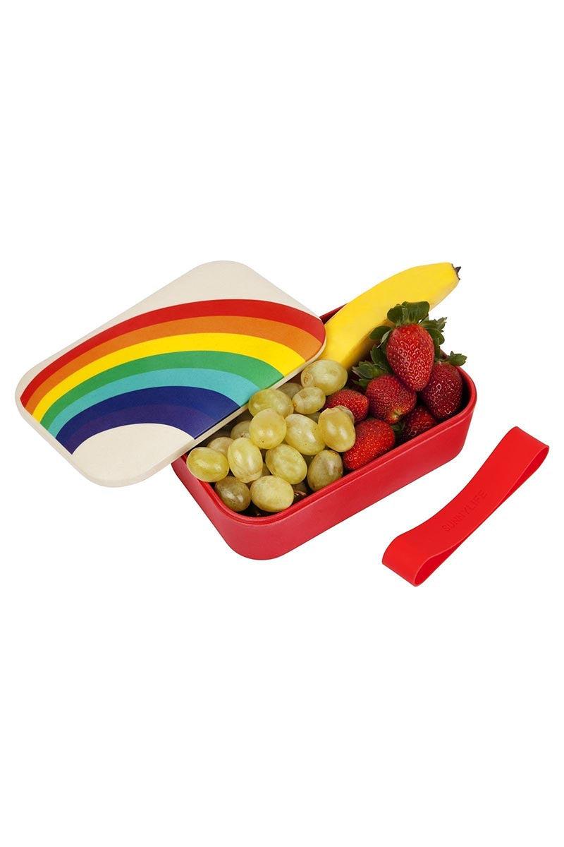 SUNNYLIFE Eco Lunch Box - Rainbow Accessories | Rainbow| Sunnylife Eco Lunch Box - Rainbow Open View