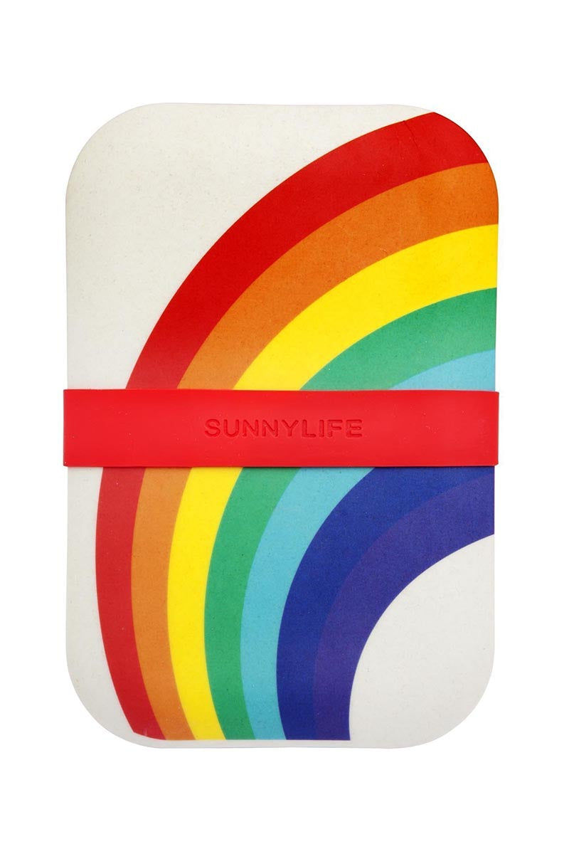 SUNNYLIFE Eco Lunch Box - Rainbow Accessories | Rainbow| Sunnylife Eco Lunch Box - Rainbow Front View