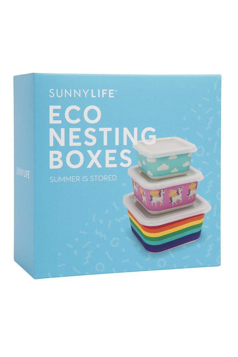 SUNNYLIFE Nesting Boxes Wonderland Set of 3 Accessories | Wonderland| Sunnylife Nesting Boxes Wonderland Set of 3 Boxed View