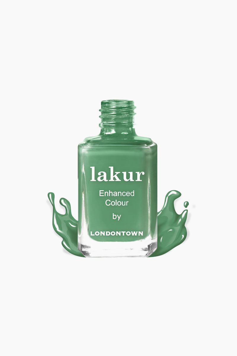 LONDONTOWN Secret Garden Posh Nail Polish - Creamy Grassy Green Nails | Green| LONDONTOWN Secret Garden Posh Nail Polish - Green. Features: A creamy grassy green that is perfect at any garden party.   Give your nails the good stuff. Florium Complex infused Lakur takes color to the next level by fusing bold hues with enriching botanicals to deliver long-lasting., high-shine wear that hydrates and strengthens with every application. Don't choose between nail care and color, pick both.  Made in USA  9-Free, Cruelty-Free, Vegan