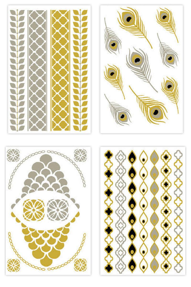 FLASH TATTOOS Sofia Set Accessories | Metallic|