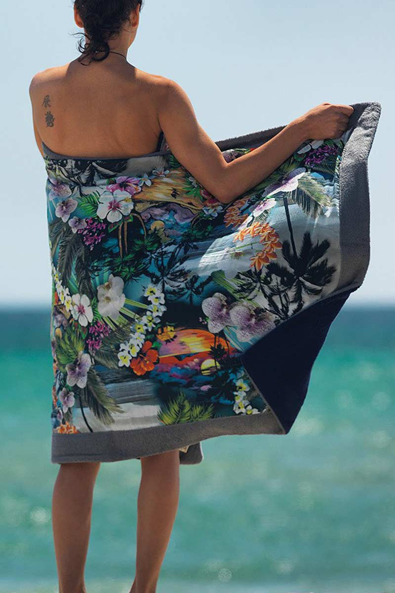 SUN OF A BEACH Hawaiian Tropic Towel Towel | Grey| Sun Of A Beach Hawaiian Tropic Beach Towel