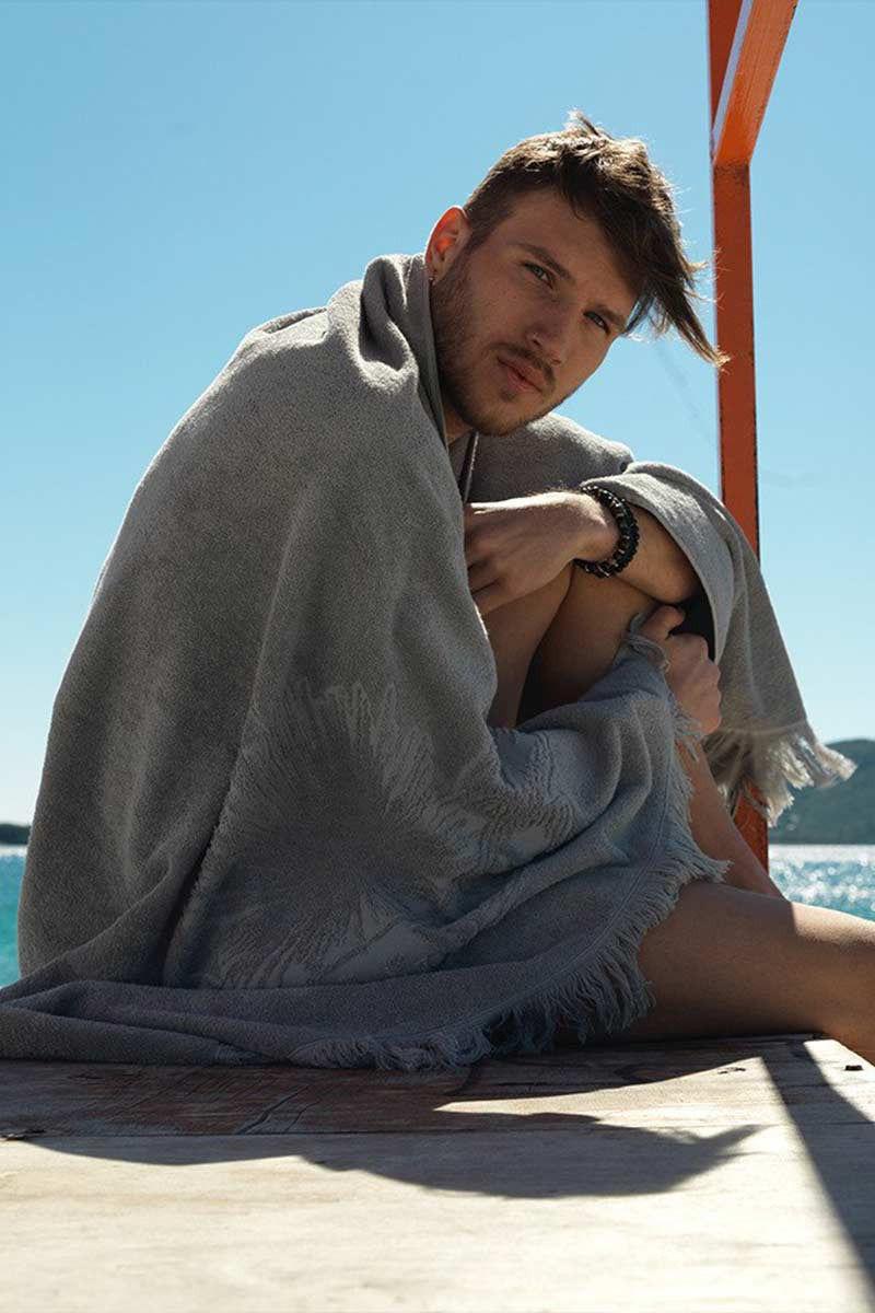 SUN OF A BEACH Just Silver Towel Towel | Silver| Sun Of A Beach Just Silver Beach Towel