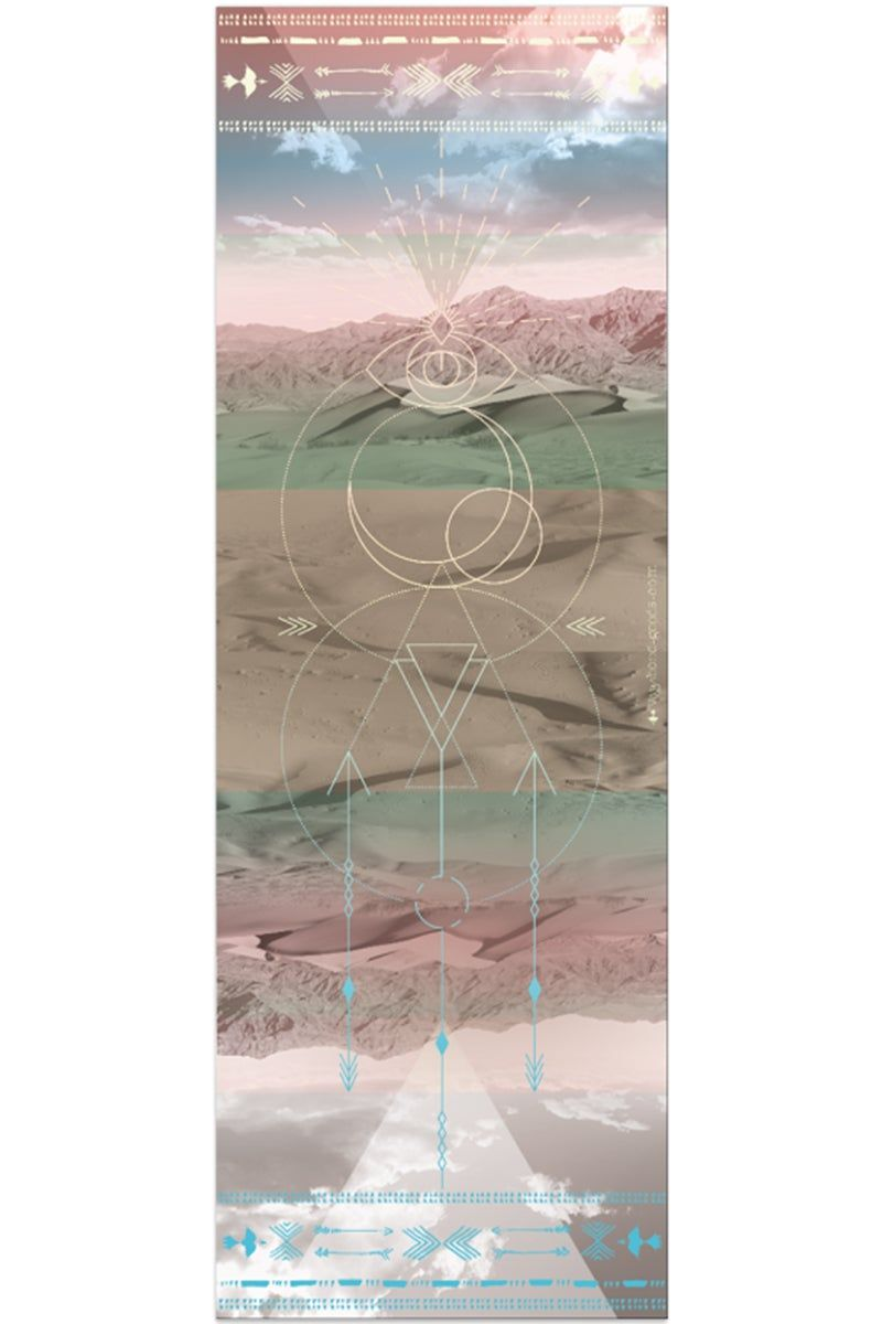 VAGABONDS GOODS Sahara Yoga Mat Yoga Mat | Sahara| Vagabond Goods Sahara Yoga Mat Non-Slip Extra-Thick Lightweight Yoga Mat Desert Sandscapes Print Non-Toxic Solvent-Free UV-Cured Inks Pillow Texture