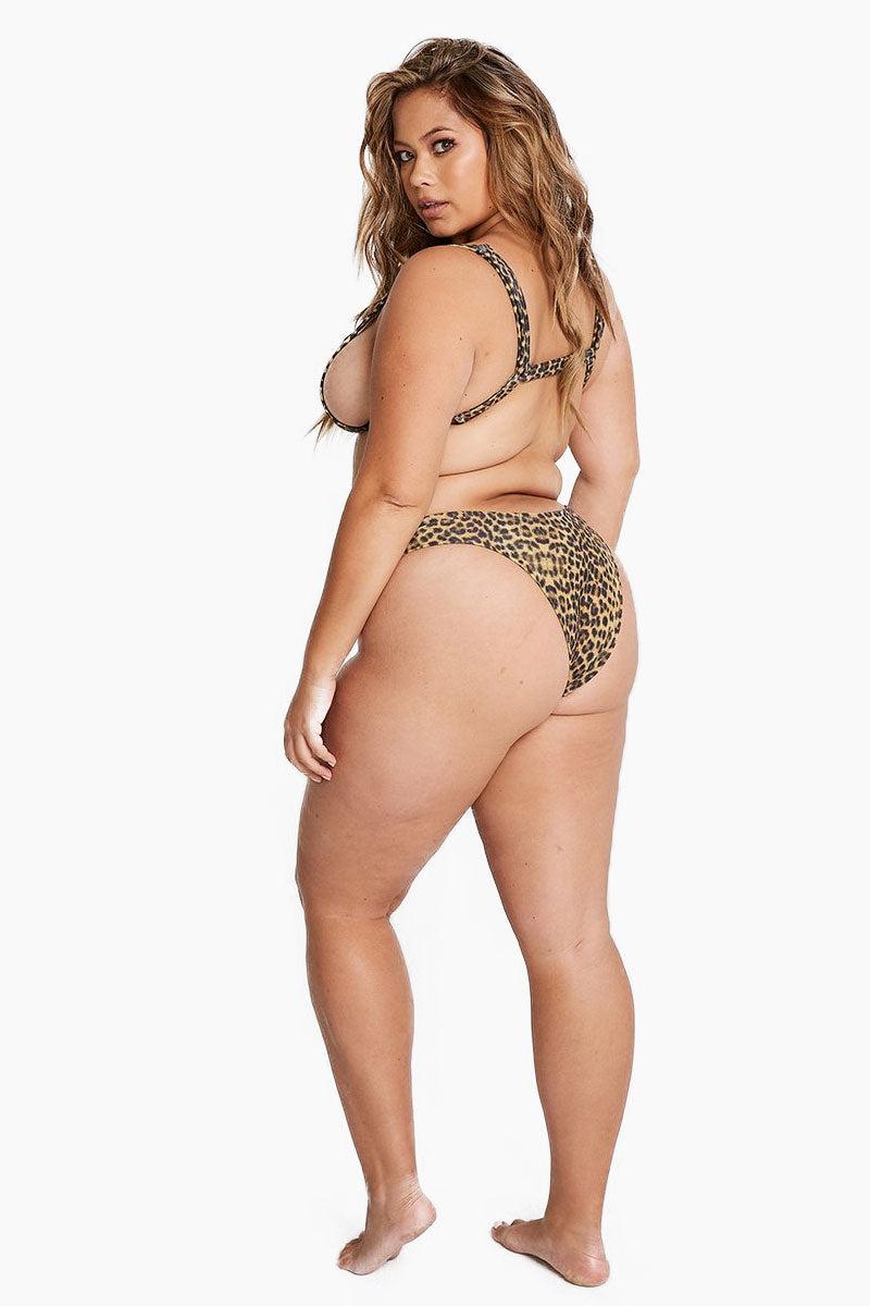 ALPINE BUTTERFLY Saint Tropez Triangle Bikini Top (Curves) - Leopard Bikini Top | Leopard| Alpine Butterfly Saint Tropez Triangle Bikini Top (Curves) - Leopard Features:  Adjustable shoulder straps Underbust straps Back View