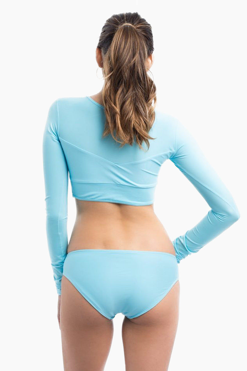 ELLE MER Mcc Full Coverage Bikini Bottom - Boy Blue Bikini Bottom | Boy Blue |Mcc Full Coverage Bikini Bottom - Features: Full-coverage back Low rise Fully lined Wide waistband