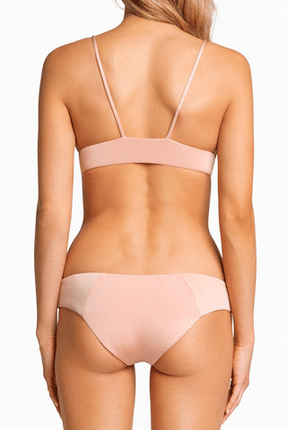 BOYS + ARROWS Charlie Full Coverage Bikini Bottom - Blush & Bashful Bikini Bottom | Blush & Bashful| Boys + Arrows Charlie Full Coverage Bikini Bottom - Blush & Bashful Hipster Full Coverage  Seamless Back View