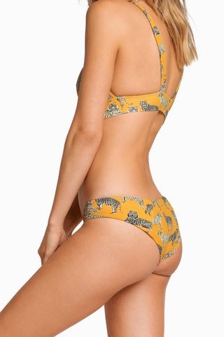 BOYS + ARROWS Charlie Full Coverage Bikini Bottom - Cat Bikini Bottom | Cat| Boys + Arrows Charlie Medium Coverage Bikini Bottom - Cat Hipster Full Coverage  Seamless Side View
