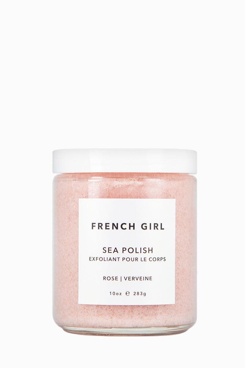 FRENCH GIRL ORGANICS Sea Polish Body Scrub - Rose Verveine Beauty | Sea Polish Body Scrub - Rose Verveine