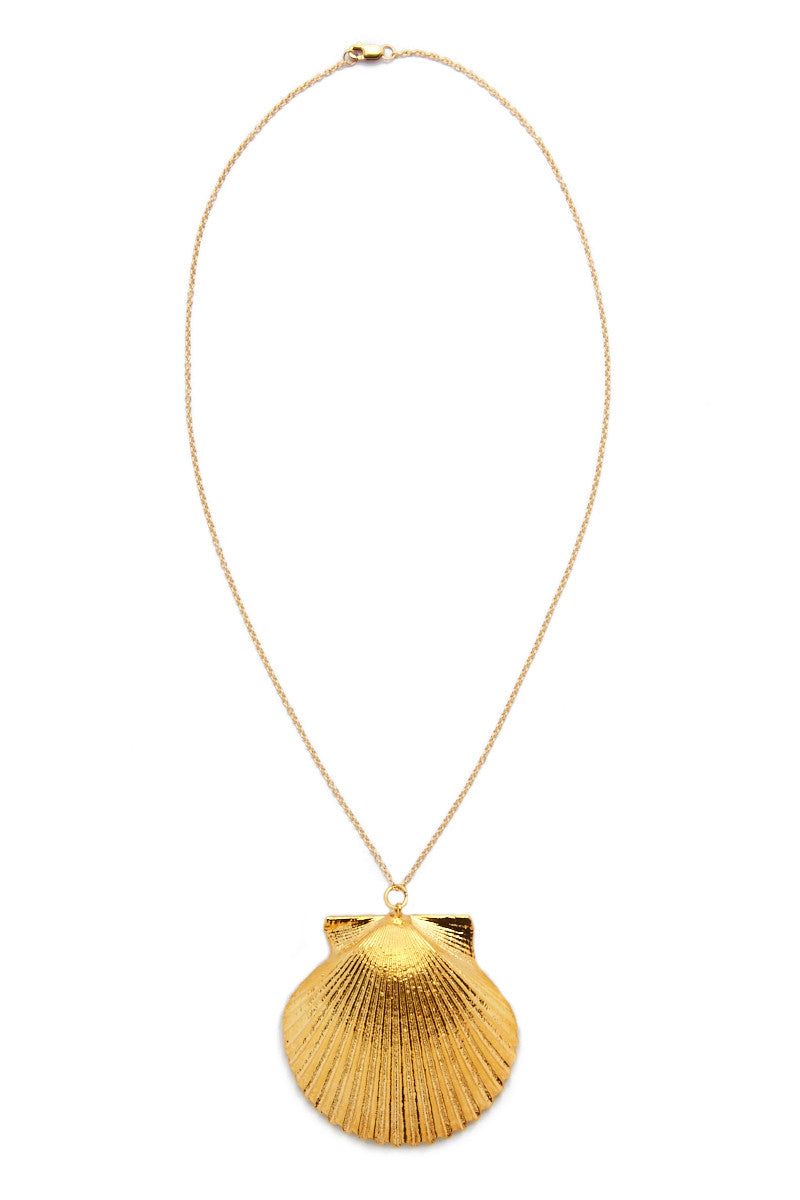 SEA DIPPED Real Scallop Shell Necklace Jewelry | Gold| Sea Dipped Real Scallop Shell Necklace