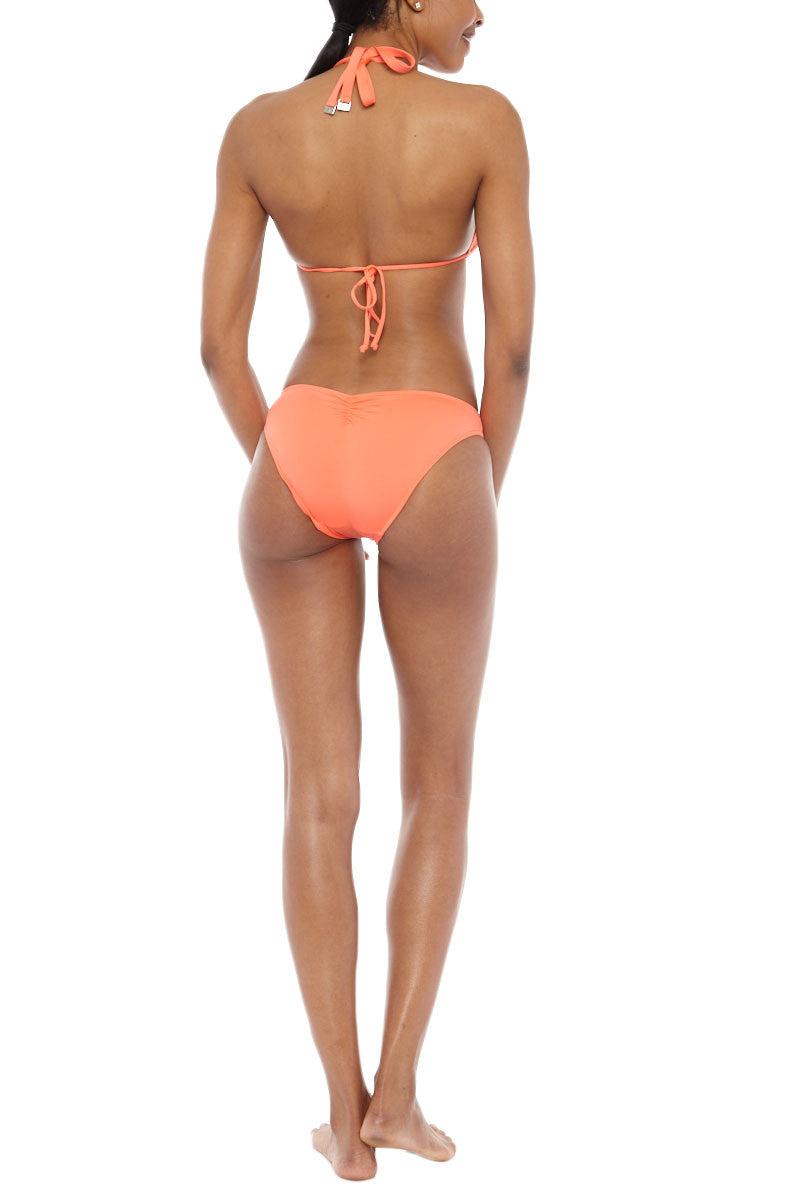 SEAFOLLY Goddess Slide Halter Ties Triangle Bikini Top - Nectarine Bikini Top | Nectarine| Seafolly Goddess Slide Triangle Bikini Top