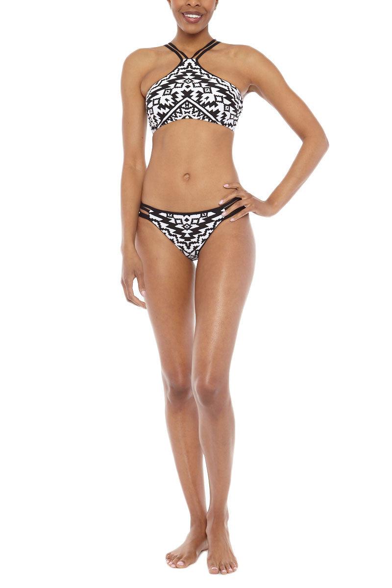 SEAFOLLY High Neck Bikini Top - Kasbah Black & White Bikini Top | Kasbah Black & White| Seafolly Kasbah High Neck Bikini Top
