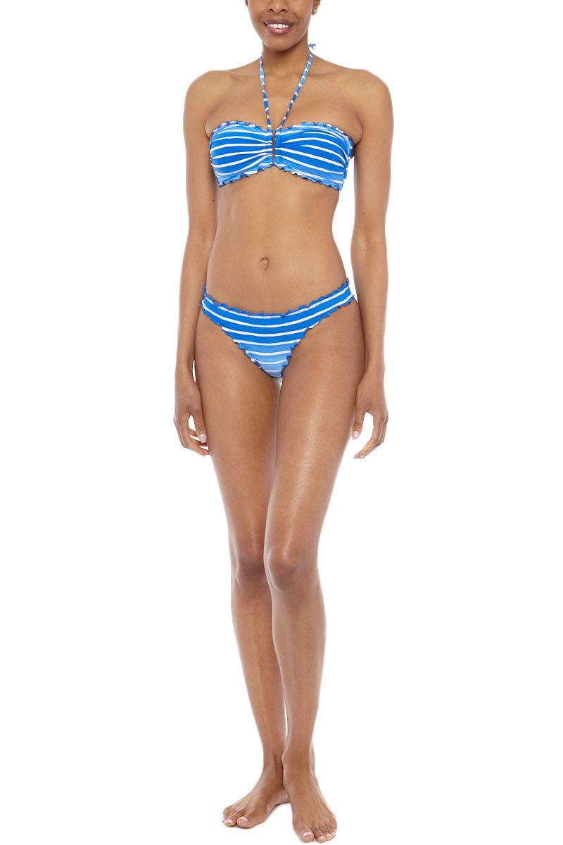 SEAFOLLY Miami Stripe Bandeau Halter Bikini Top - Lapis Blue Bikini Top | Lapis Blue| Seafolly Miami Stripe U-Bikini Top