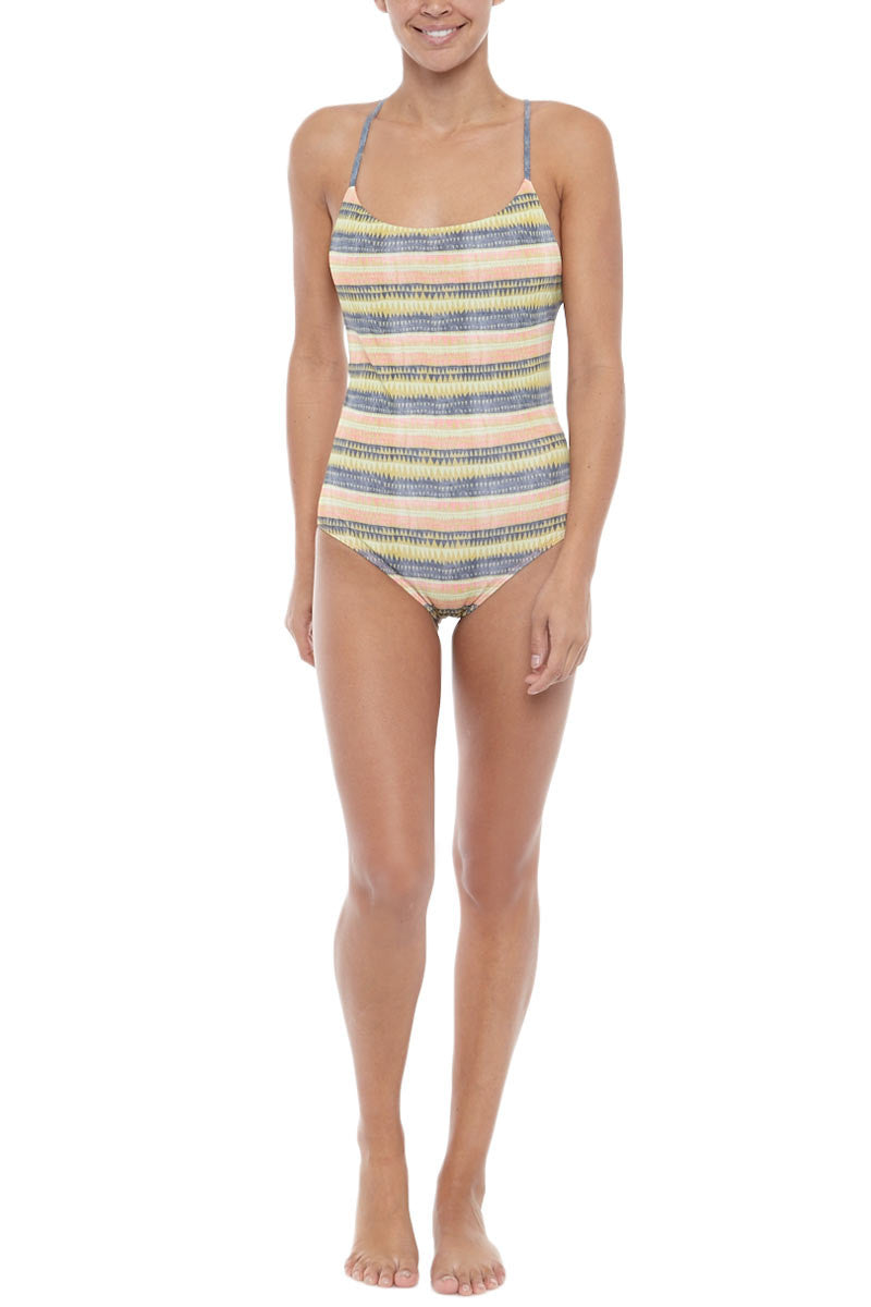 SEEA Anglet Moderate Coverage One Piece Swimsuit - Alamo Print One Piece | Alamo| Seea Anglet One Piece