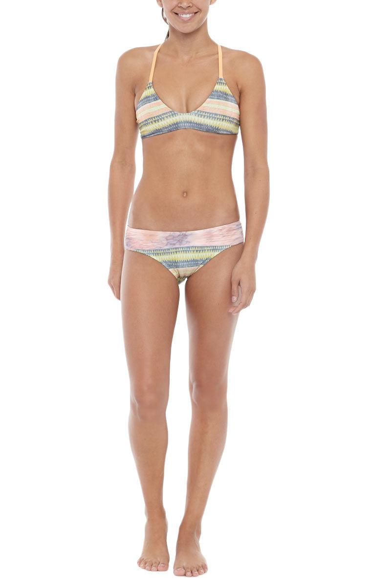 SEEA Adria Wise Waistband Color Blocked Bikini Bottom - Alamo Print Bikini Bottom | Alamo| Seea Adria Bikini Bottom