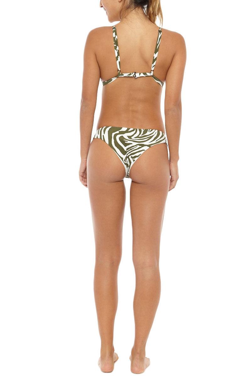 SERENDIPITY Luhur Top Bikini Top | Khaki Zebra Print| Serendipity Luhur Bikini Top