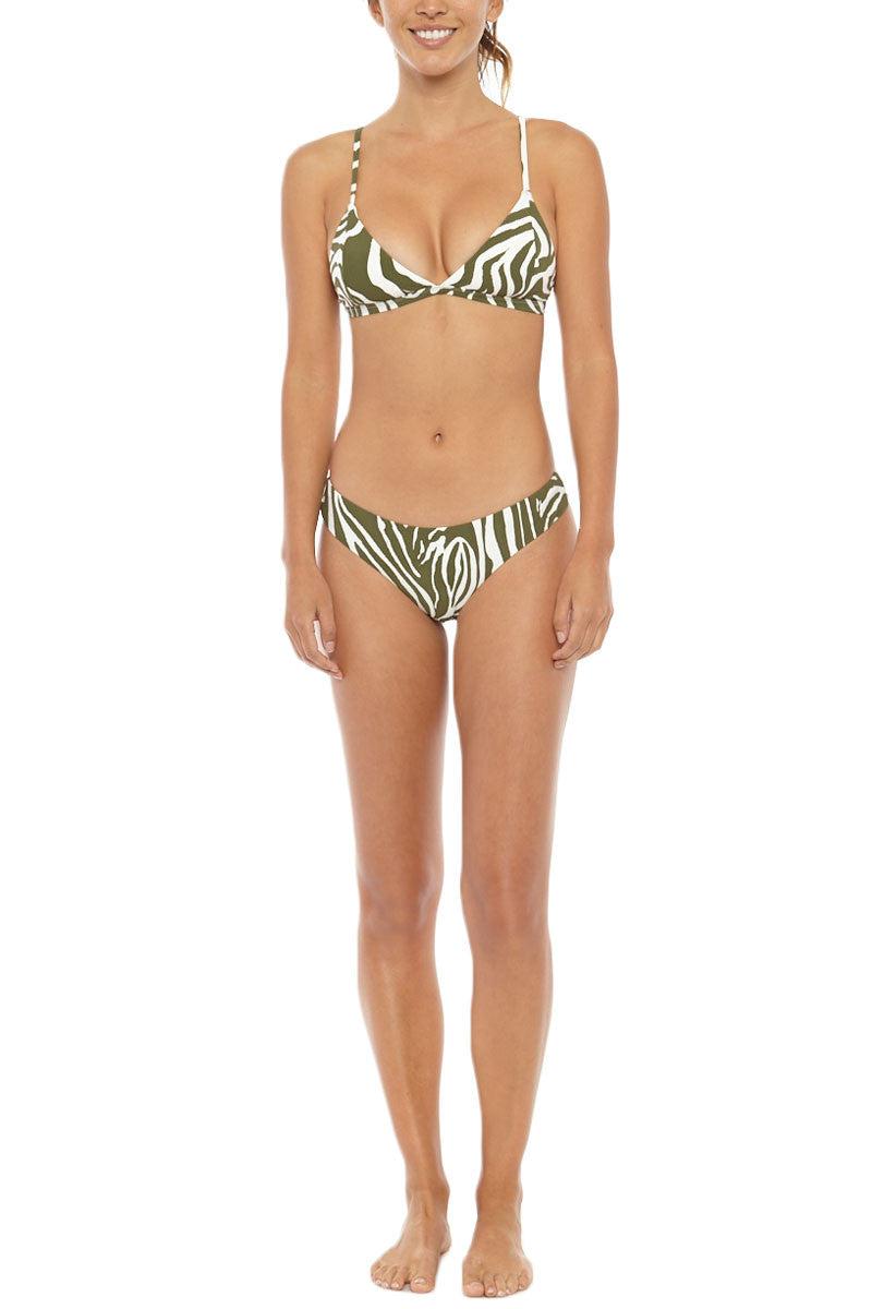 SERENDIPITY Tanah Bottom Bikini Bottom | Khaki Zebra Print| Serendipity Tanah Bikini Bottom