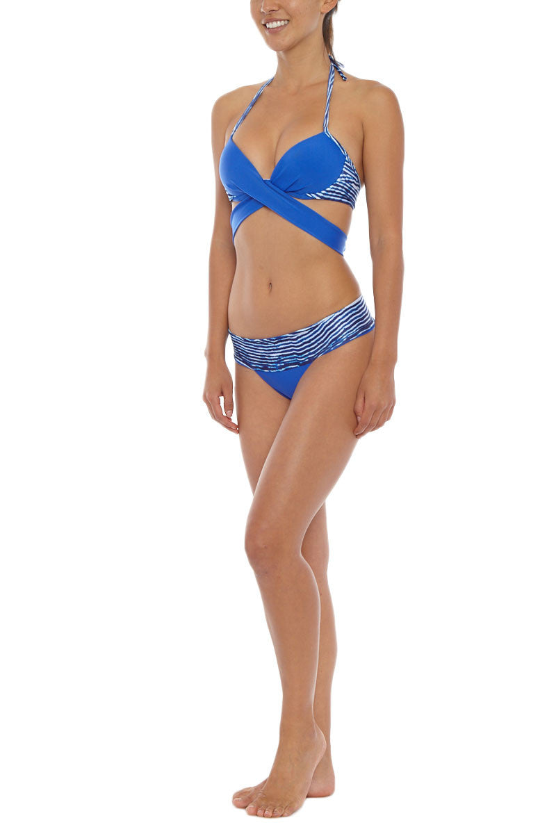 SOLKISSED La Jolla Banded Minimal Bikini Bottom - Blue Lagoon Bikini Bottom | Blue Lagoon| Solkissed La Jolla Barely Bikini Bottom