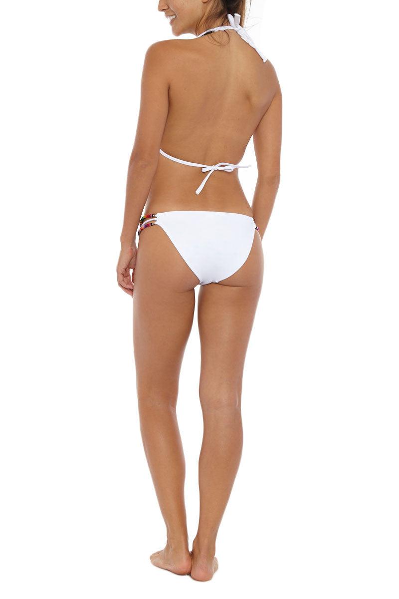 SOLKISSED Maja Bungee String Top - White Bikini Top   White  Solkissed Machu Picchu Bungee String Bikini Top