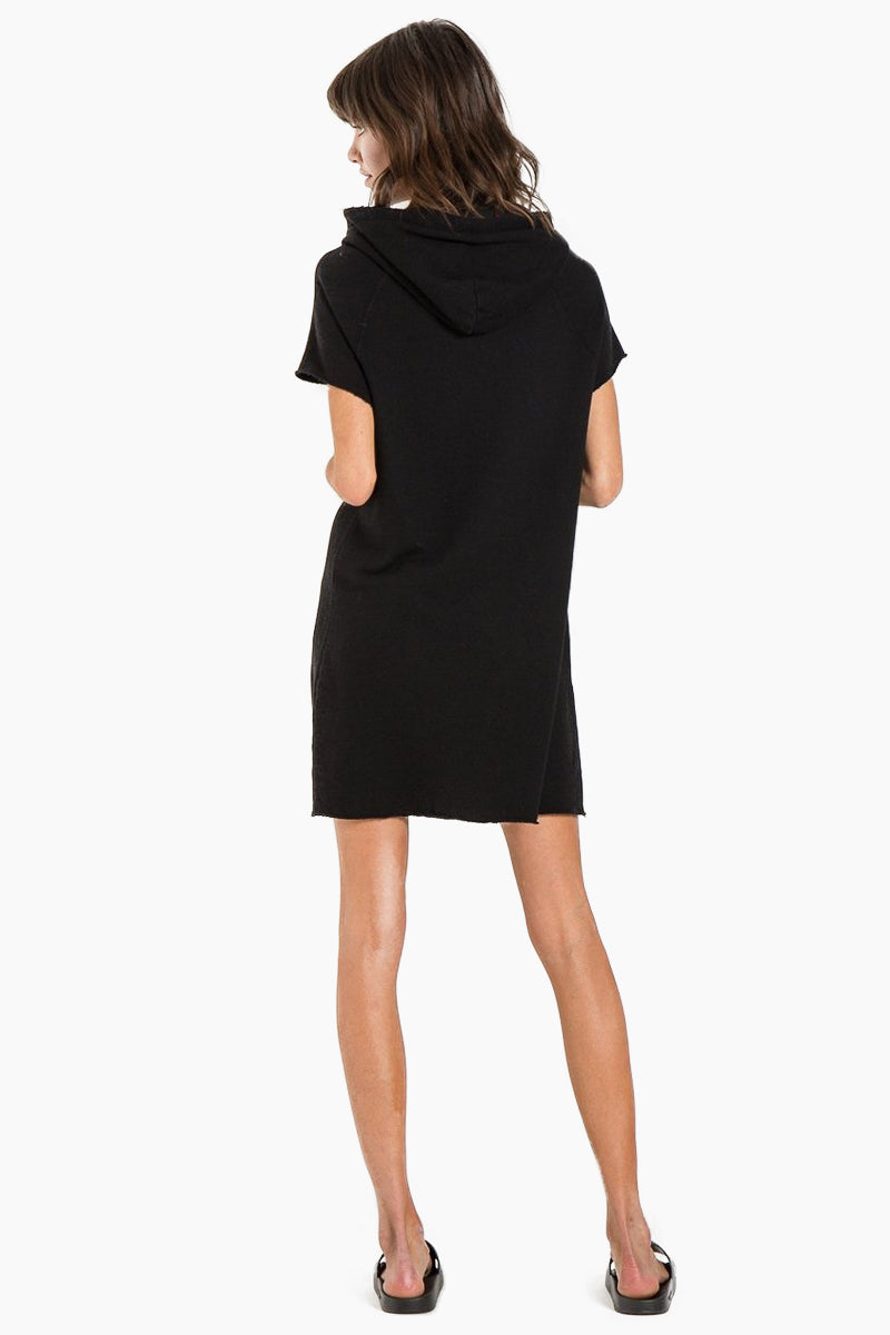 N:PHILANTHROPY Spades Dress - Black Cat Dress | Black Cat| N:PHILANTHROPY Spades Dress - Black Cat. Features:  Relaxed fit Sporty details Drawstring hood Front kangaroo pocket Designed in a super luxe, French terry. Back View
