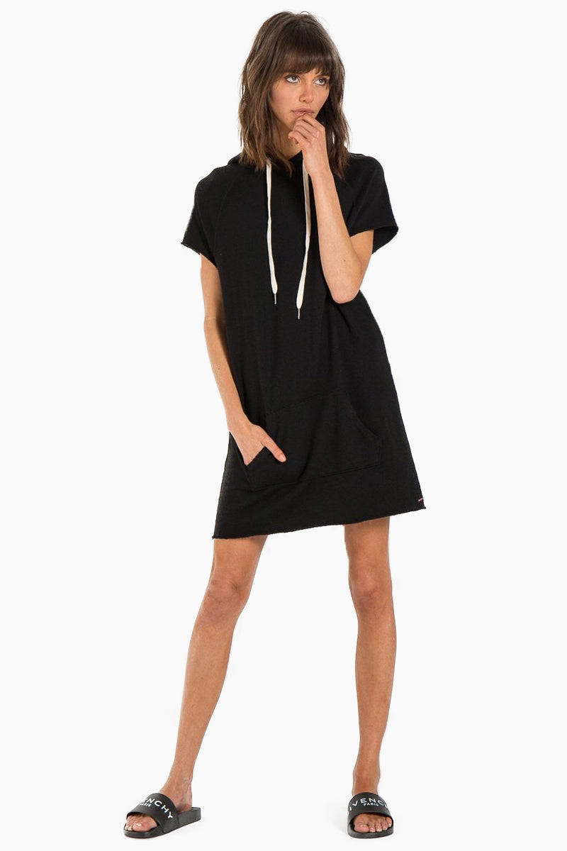 N:PHILANTHROPY Spades Dress - Black Cat Dress | Black Cat| N:PHILANTHROPY Spades Dress - Black Cat. Features:  Relaxed fit Sporty details Drawstring hood Front kangaroo pocket Designed in a super luxe, French terry. Front View