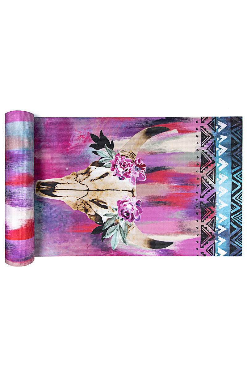 VAGABONDS GOODS Spirit Dancer Yoga Mat Yoga Mat | Spirit Dancer| Vagabond Goods Spirit Dancer Yoga MatNon-Slip Extra-Thick Lightweight Yoga Mat Non-Toxic Solvent-Free UV-Cured Inks Pillow Texture Vibrant Animal Skull Watercolor Print