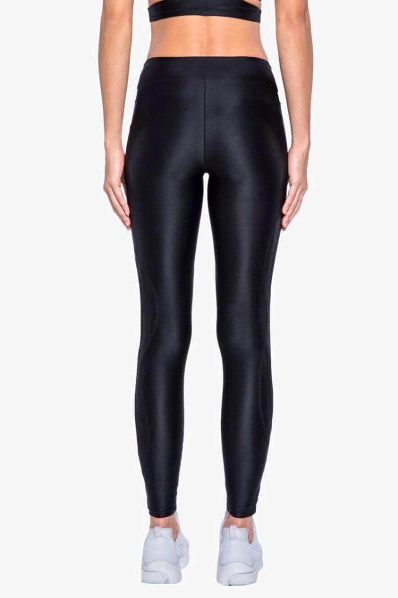 KORAL Stance High Rise Leggings - Black Leggings | Black| Koral Stance High Rise Legging - Black. Features:   High Rise Leggings Mesh Panel at  Waistband & Side of Leg Made in USA Back View