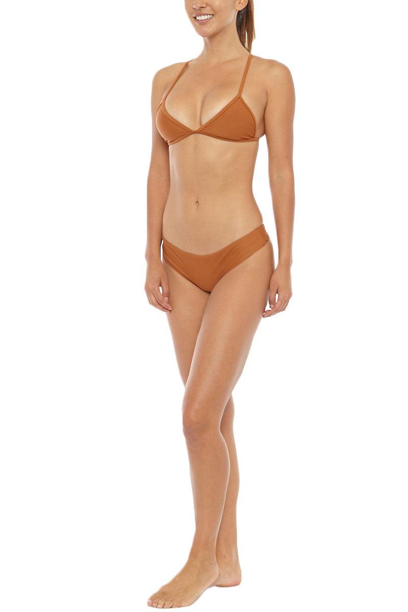 STONE FOX SWIM Cora Triangle Strappy Back Bikini Top - Bronzed Bikini Top | Bronzed| Stone Fox Swim Cora Bikini Top