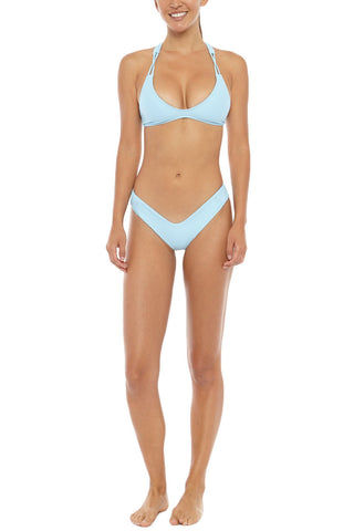 STONE FOX SWIM Tucker V Cut Bikini Bottom - Sky Bikini Bottom | Sky| Stone Fox Swim Tucker Bikini Bottom