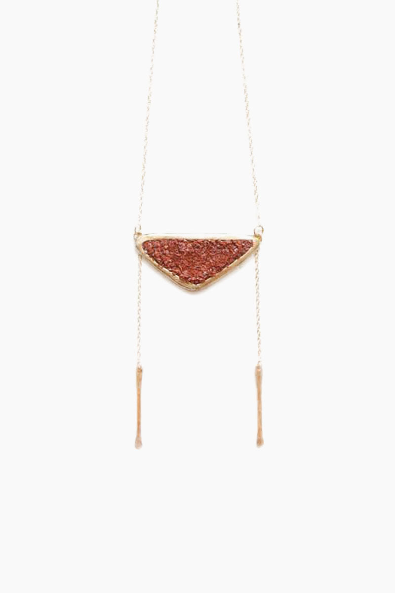DEA DIA JEWELRY Strata Bolo Necklace - Red Opal Jewelry | Strata Bolo Necklace - Red Opal| Dea Dia Jewelry Chain drop detail three inch bar