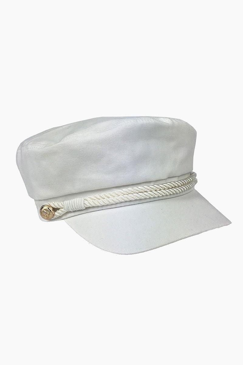 56b52019380 HAT ATTACK Emmy Summer Cotton Captain s Cap - White Hat