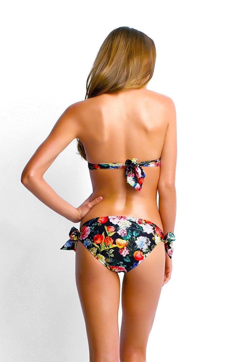 SEAFOLLY Moulded Halter Ties Bikini Top - Floral Bikini Top | Floral|Carrie