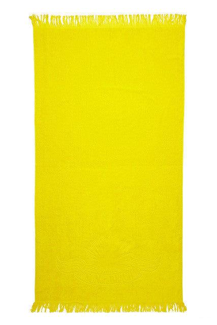 SUN OF A BEACH Just Sun Towel Towel | Yellow| Sun Of A Beach Just Sun Towel