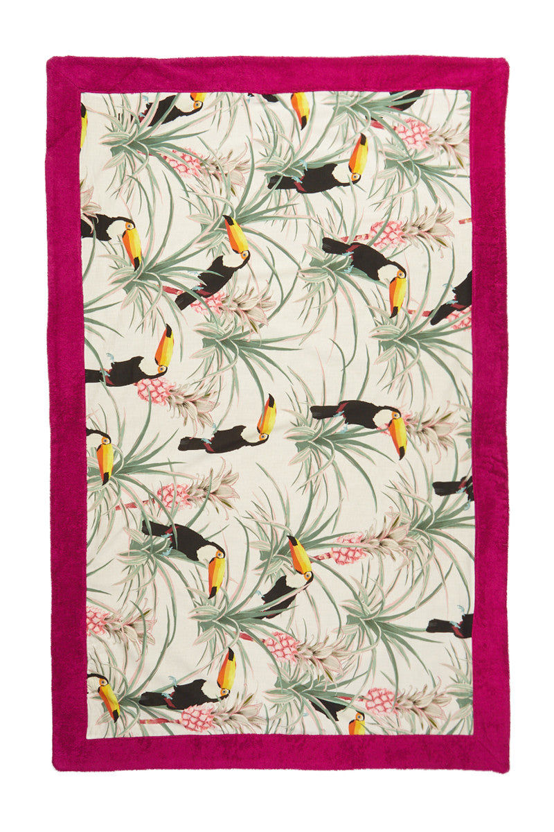 SUN OF A BEACH Pina Colada Towel Towel | Fuchsia| Sun Of A Beach Pina Colada Beach Towel