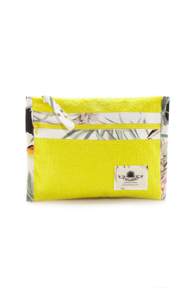 SUN OF A BEACH Pina Colada Pochette Bag | Yellow Print| Sun of a Beach Pina Colada Pochette