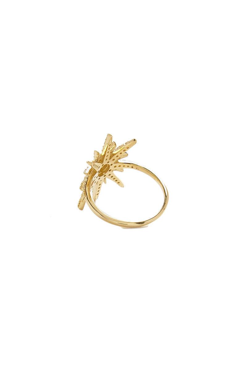 TALIA NAOMI Supernova Ring Jewelry | Gold| Talia Naomi Supernova Ring