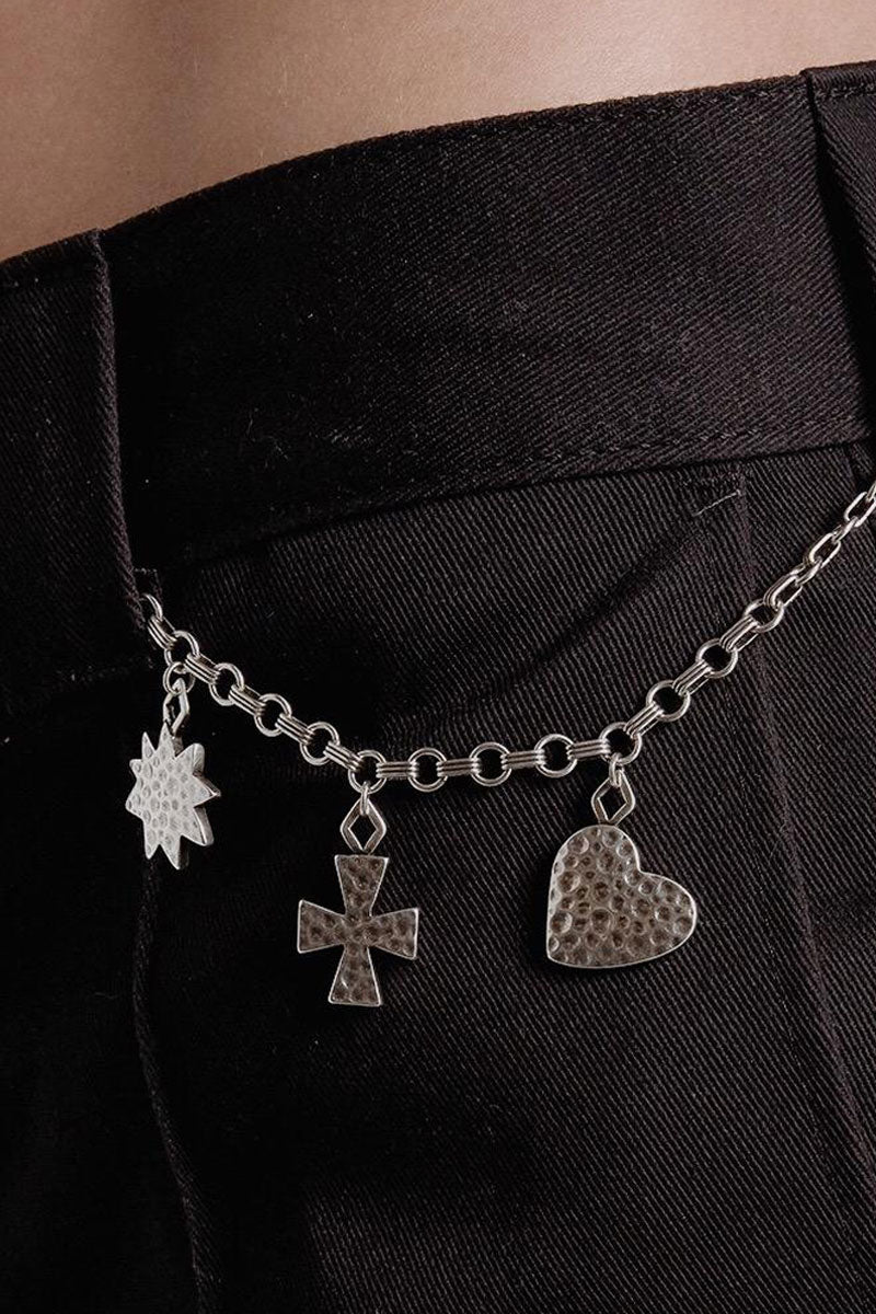 """LUV AJ The Hammered Charm Necklace - Gold Jewelry 