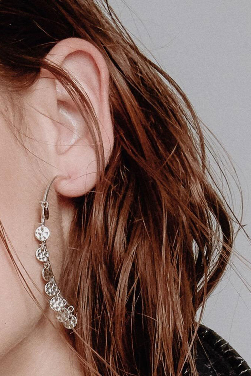 """LUV AJ The Hammered Disc Hoop Earrings - Rose Gold Jewelry 