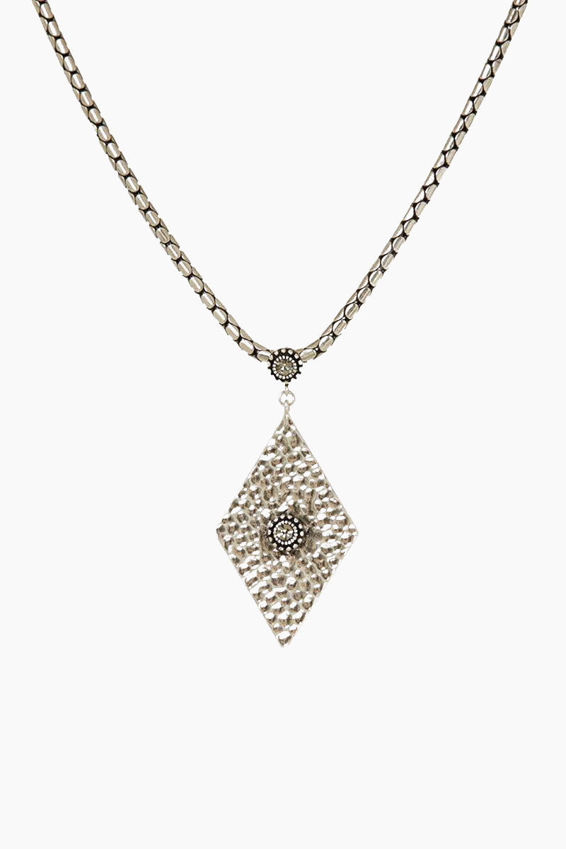 """LUV AJ The Hammered Triangle Charm Necklace - Silver Jewelry 