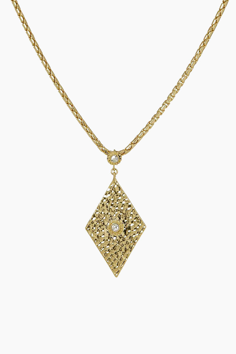 """LUV AJ The Hammered Triangle Charm Necklace - Gold Jewelry 